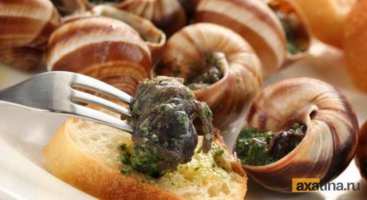 Варёные ахатины - блюдо из улиток